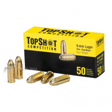 9mm Luger FMJ 124grs., TopShot Competition