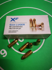 9MM FMJ 8.0 G / 124 GRS, LUGER, X-Force