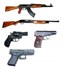 Extreme shooting with various combat weapons I